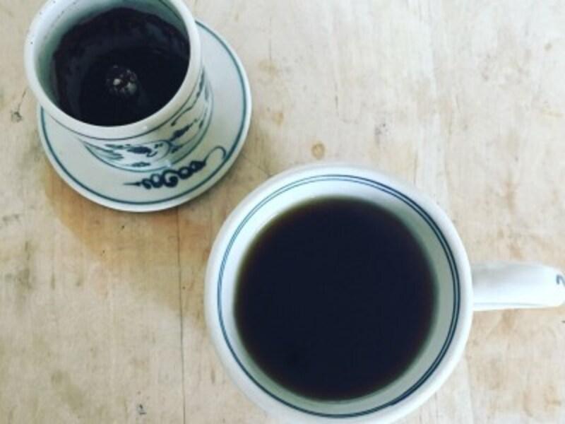 コーヒーは、ハンドドリップでいれます