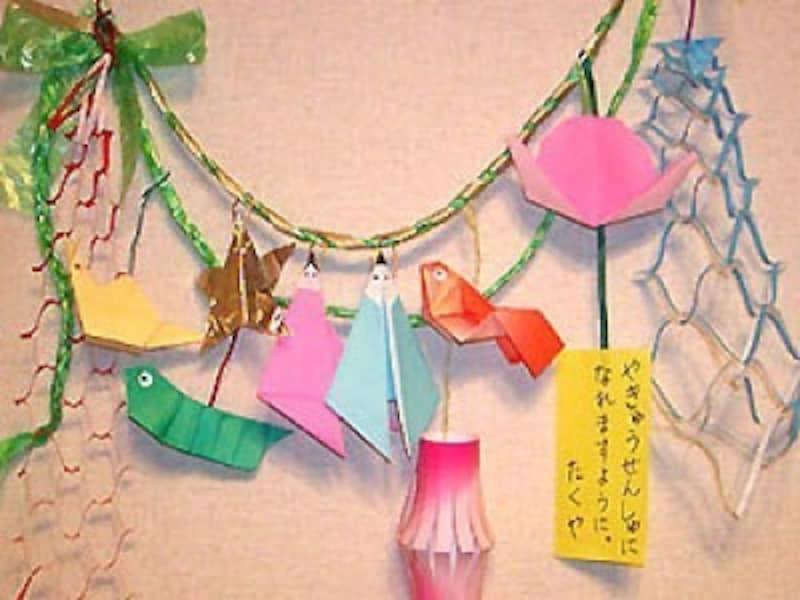 折り紙で星・織姫・彦星を七夕飾り工作・製作で手作り
