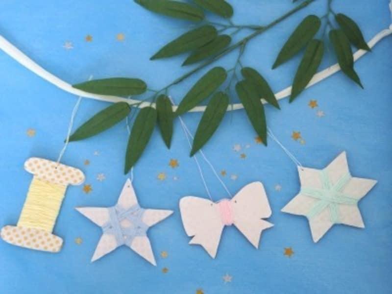 レース糸の星ガーランドを七夕飾り工作・製作で手作り