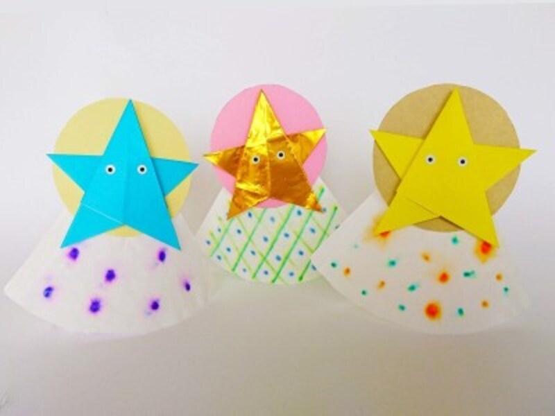 折り紙1枚で作る星で「星の精」を七夕工作・製作・手作り