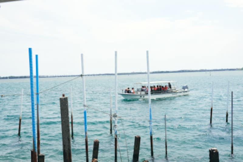 浜名湖から船にのって出発!