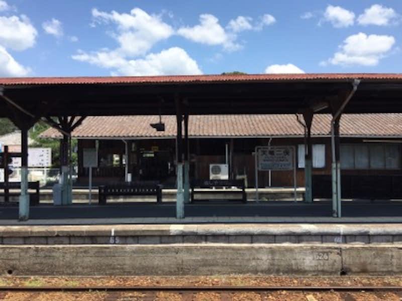 天竜二俣駅上りプラットホーム