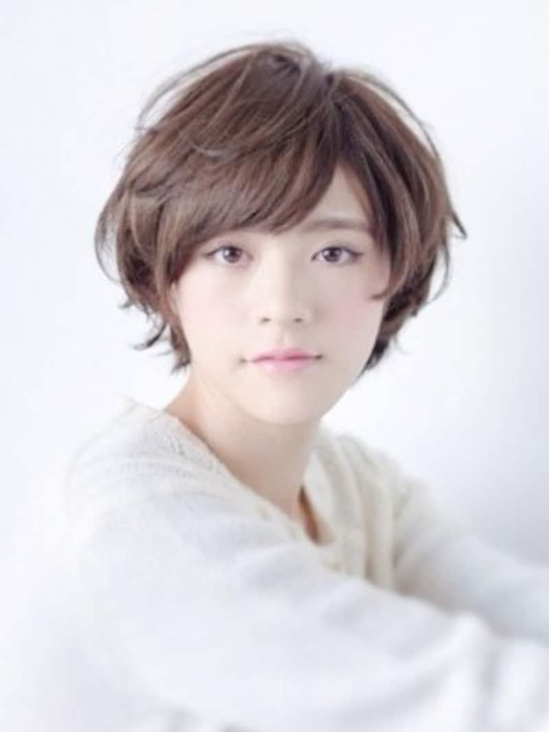 3つのポイントを押さえて、白髪が目立たない髪型に!/hair公文啓敬(画像出典:透き通る質感が大人かわいいパーマショートボブ)
