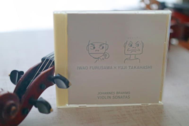 古澤厳さんと高橋悠治さんによるブラームス作曲ヴァイオリン・ソナタ全曲盤
