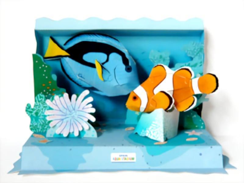 夏休み工作・製作水族館の無料ペーパークラフト