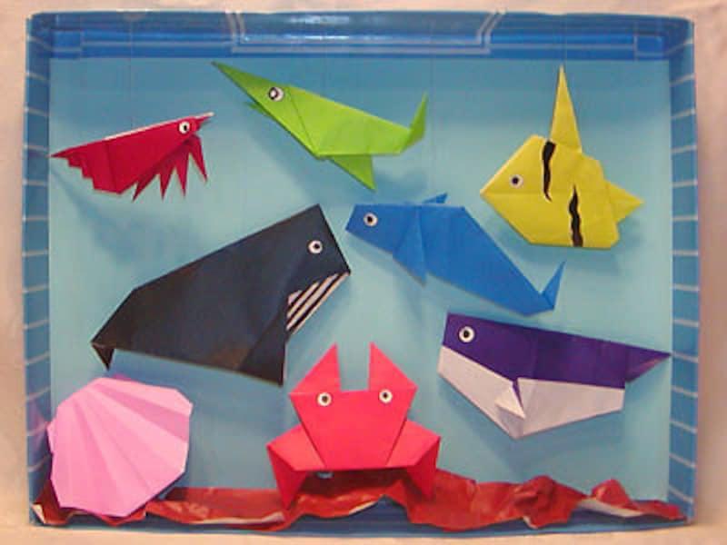 夏休み工作・製作折り紙の海