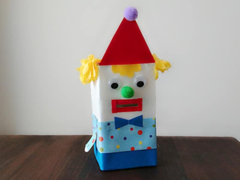 夏休み工作・製作ピエロの貯金箱