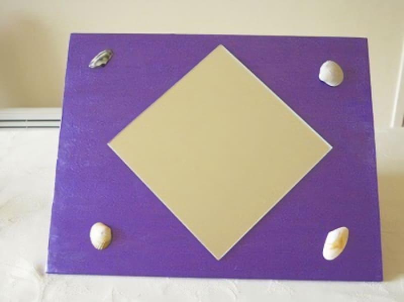 女の子の夏休み工作・自由研究工作貝殻デコレーション鏡