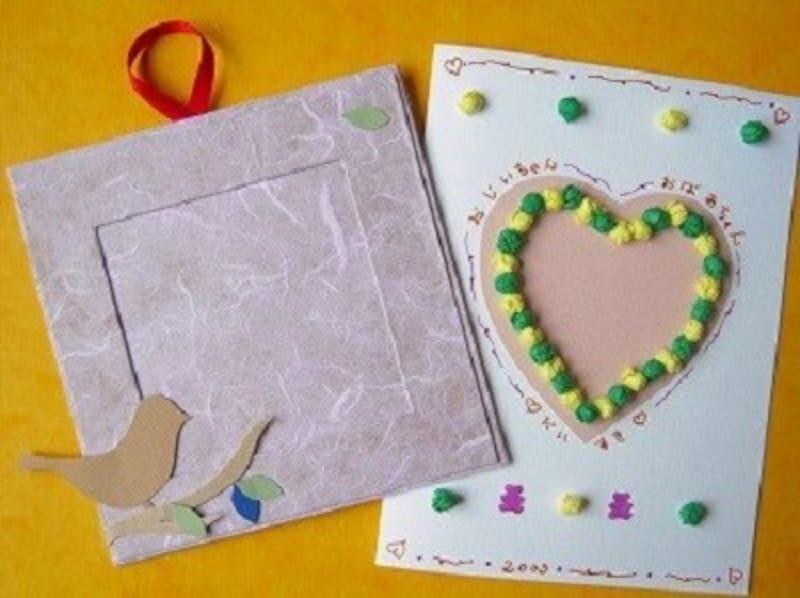 敬老の日製作,敬老の日工作,敬老の日の手作りプレゼントに手作りカードと写真入れ