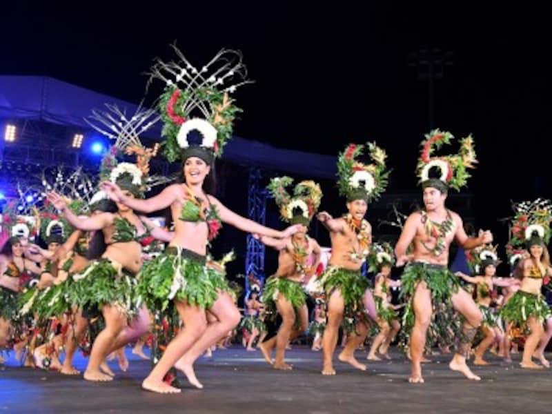 最高レベルの本場タヒチアンダンスが観られるイベント「ヘイヴァ・イ・タヒチ」(写真は2019年)
