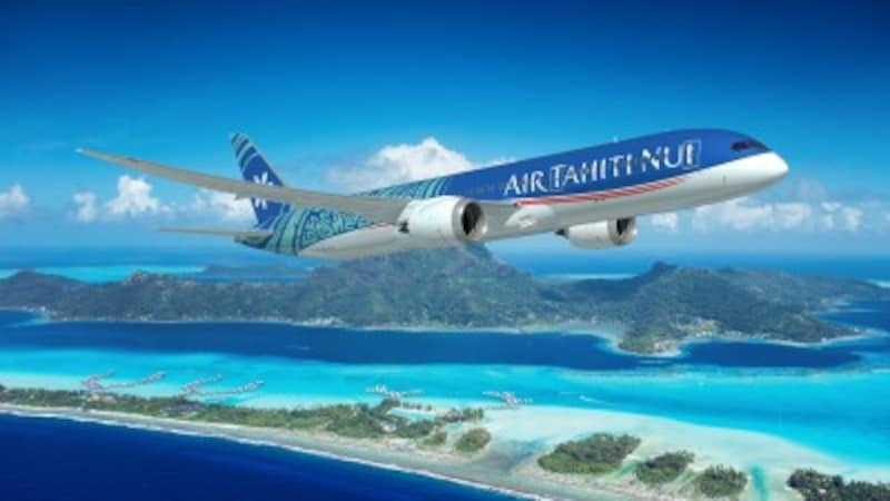 エアタヒチヌイの日本線でも運航される最新の飛行機、通称「ドリームライナー」