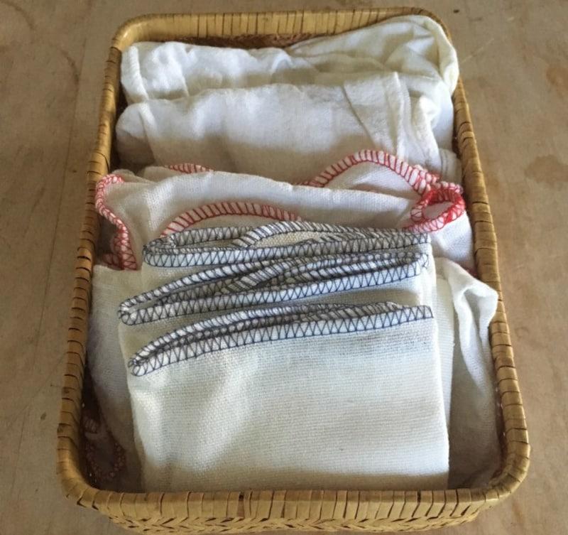 普通の布巾をキッチンペーパーの代わりに