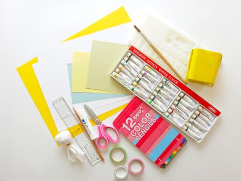 敬老の日手作りポップアップカードの材料