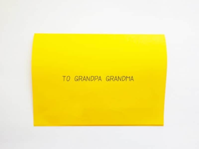 英語で書いたシンプルな表面の敬老の日ポップアップカード