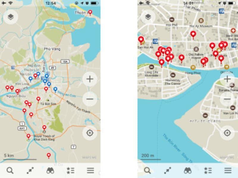 MAPS.MEの画面