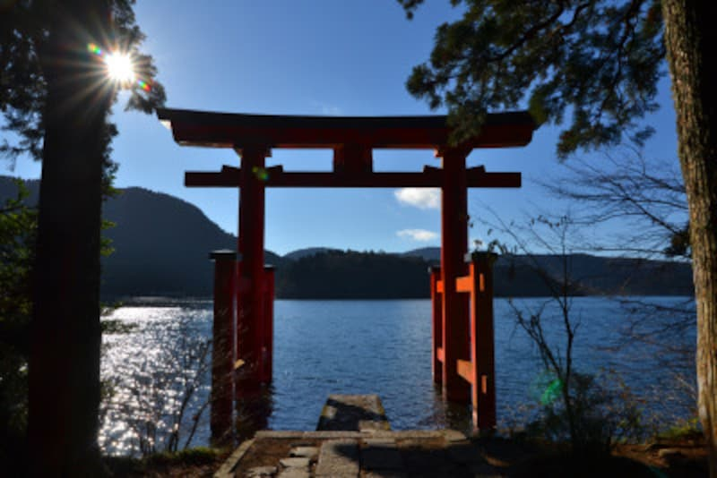 箱根ひとり旅の観光スポット:平和の鳥居
