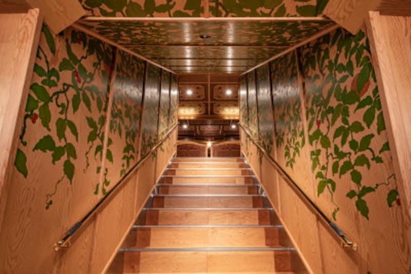 箱根ひとり旅の観光スポット:海賊船の階段