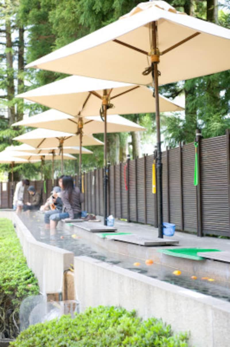 箱根ひとり旅の観光スポット:足湯