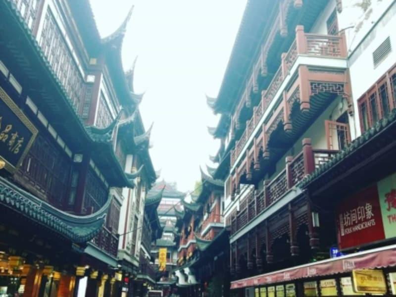 「お正月に上海行った時の写真。日本でいう浅草のような有名な観光スポットでたくさんの人がいました」(柔ママさん)