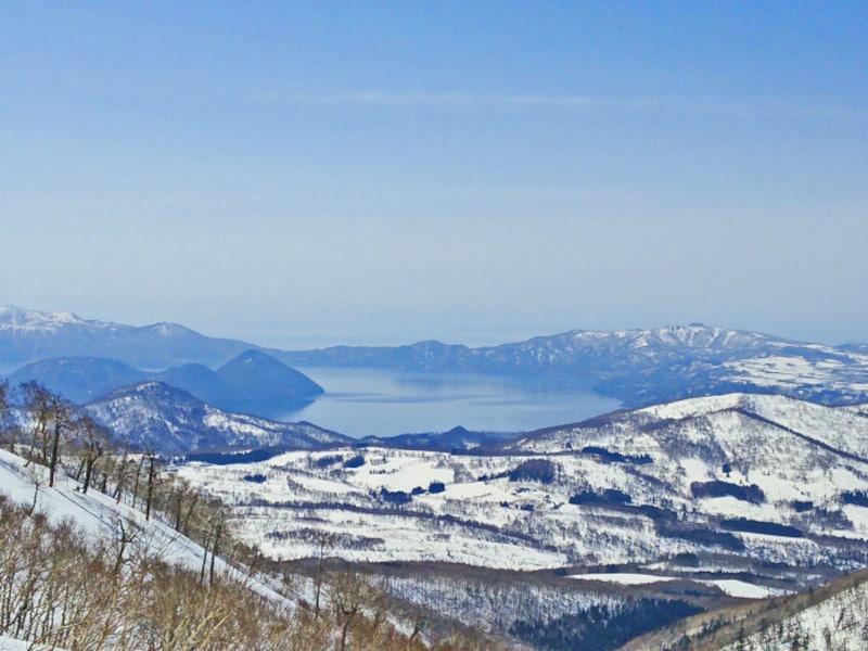 北海道の絶景パワースポット冬・洞爺湖も見える