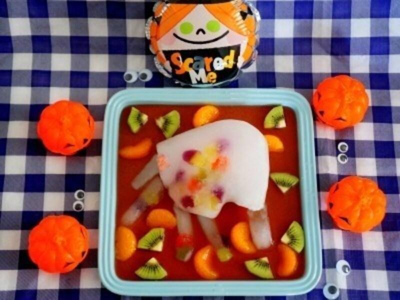 ハロウィンお菓子の手作りアイディア11.ハロウィンフルーツポンチ