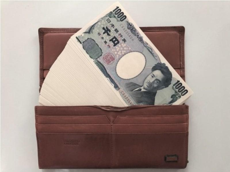 トロッコさんのお小遣いは、新券の1000円札(100枚)で銀行からおろし、常時20枚を財布に入れます(写真はトロッコさん撮影)