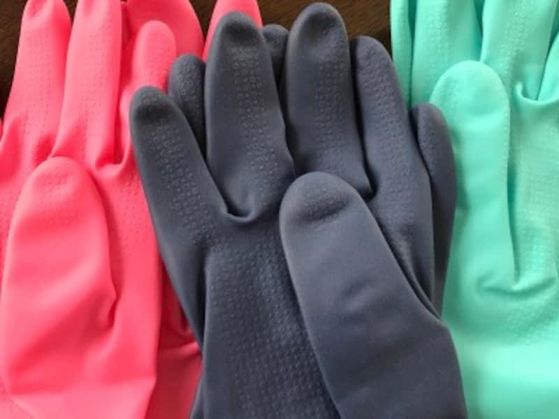 ゴム手袋指先の写真