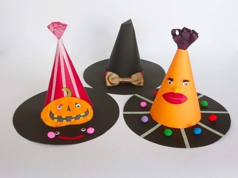 ハロウィン帽子魔女帽子かぼちゃ帽子の作り方・手作り