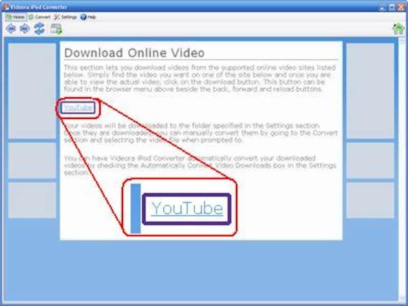 YouTubeへのアクセスリンク