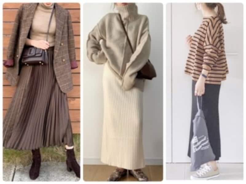 低身長さんでもロングスカートをバランスよく履くコツはたくさん!