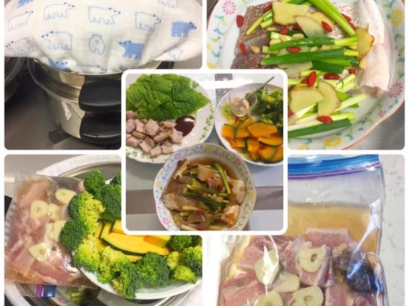 多重鍋で手間なし一気に夕飯ができます