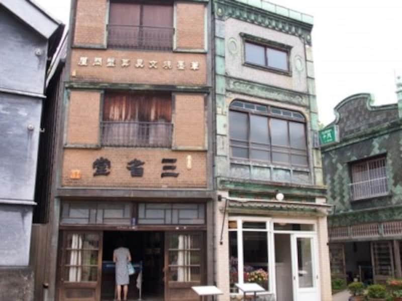 江戸東京たてもの園の、下町の街並み。建物内も見学できる