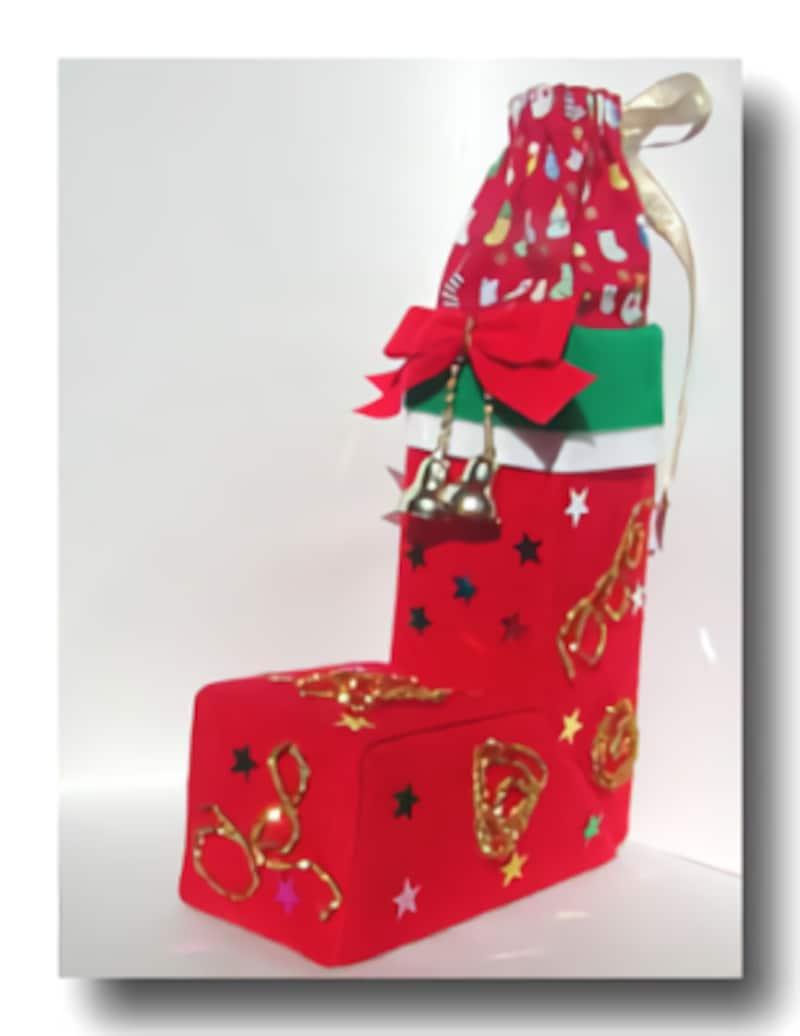 牛乳パックで簡単工作!クリスマスブーツ