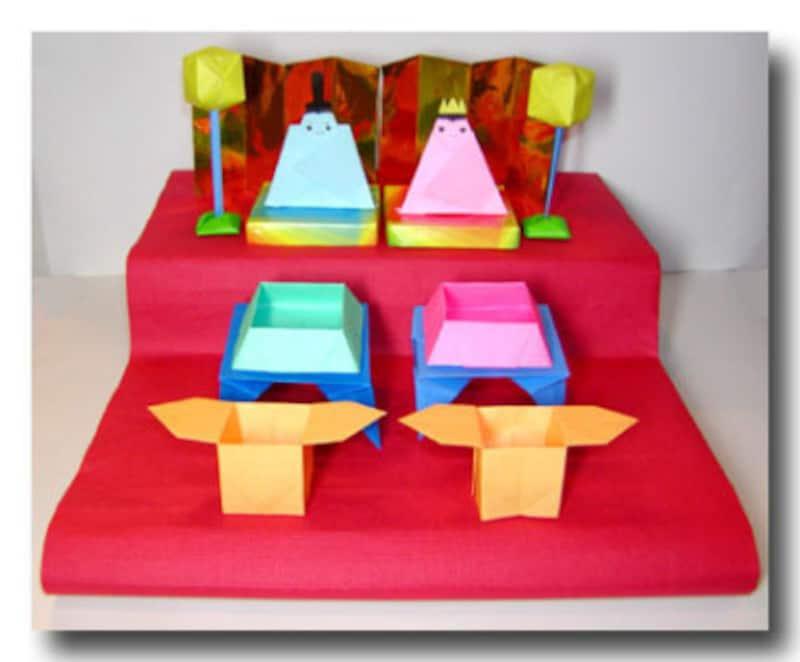 ひな祭り製作・雛祭り工作 折り紙お雛様 折り紙雛人形 雛人形製作