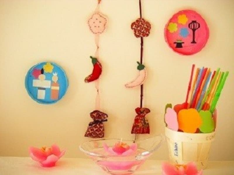 ひな祭り製作・雛祭り工作・つるし雛・手作り雛人形・ハンドメイド雛人形