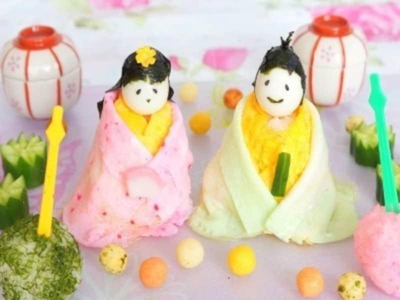 ひな祭り製作・雛祭り工作・手作り雛人形・ひな祭りメニュー・ちらし寿司・雛人形寿司・おひな様 寿司