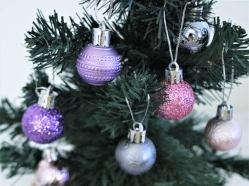 セリア・クリスマスボール6p(モダンミックス)大人可愛い飾りです。