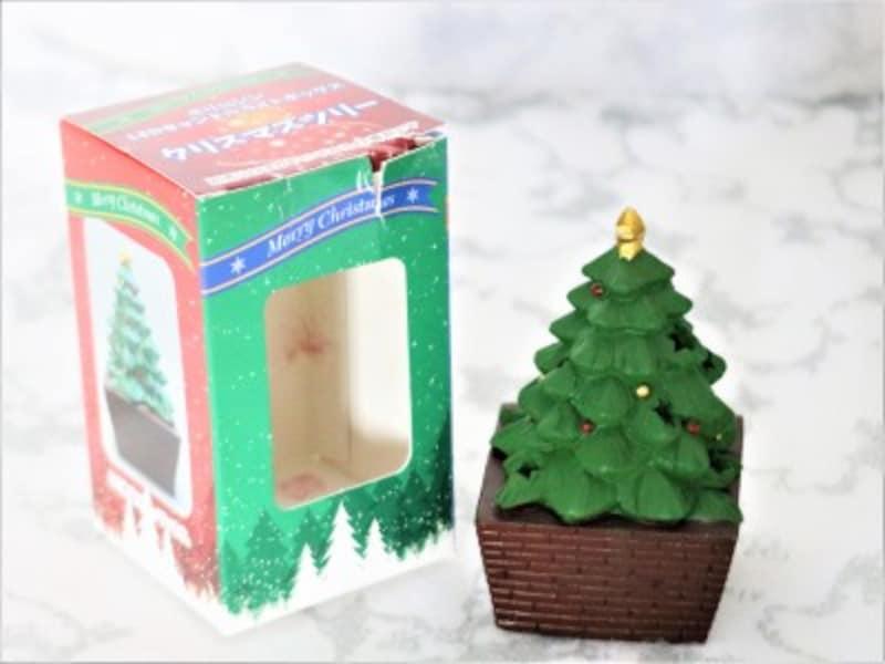 セリア・ポリレジンLEDキャンドルライトボックスクリスマスツリー