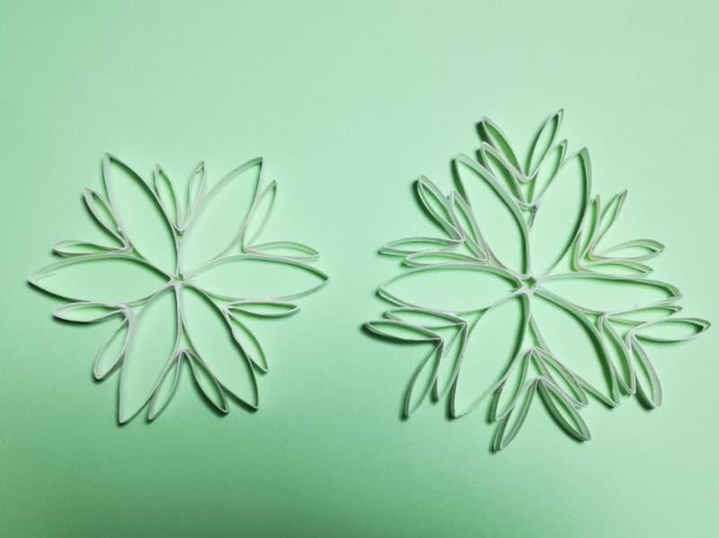 雪の結晶オーナメント作り方、雪の結晶工作