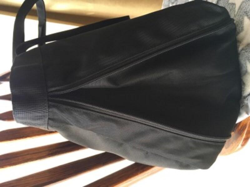 荷物の量で広げられる 撥水 トートバッグ