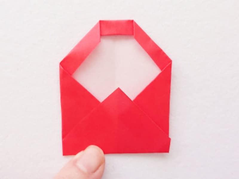 お正月飾り手作り 折り紙だるましめ飾り作り方 下部を上に折る