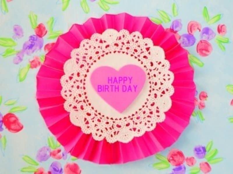 誕生日飾り付け手作りペーパーファン