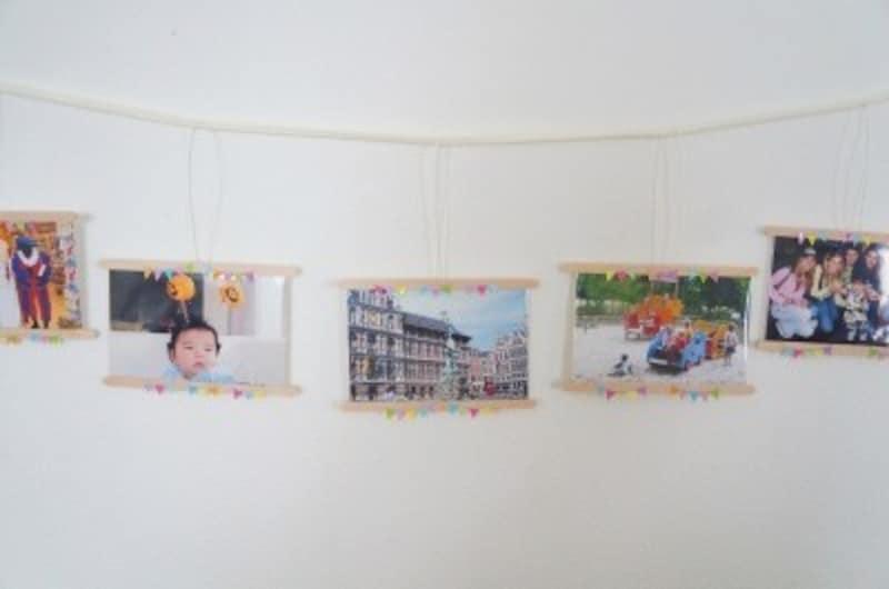 誕生日飾り付け手作り写真ガーランド