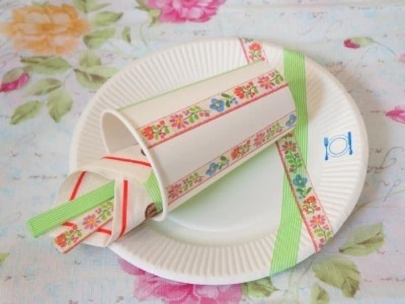 誕生日飾り付け手作り紙皿・紙コップを可愛く変身