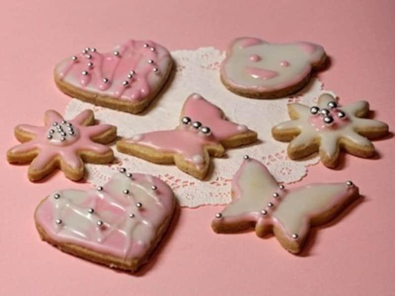 友チョコ大量生産バレンタインレシピ デコレーションクッキー
