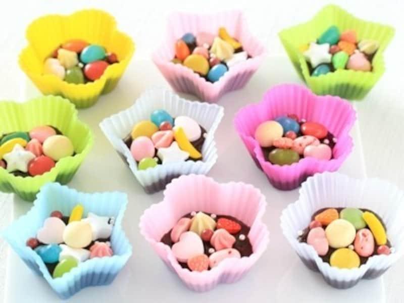 友チョコ大量生産バレンタインレシピ カラフル・マンディアン