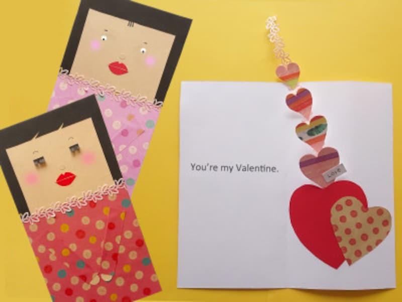 バレンタインカード手作りハート飛び出す・仕掛けカード・ポップアップカード