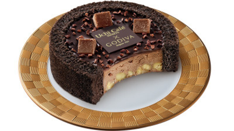 「UchiCafe×GODIVAショコラアイスクリームロールケーキ」