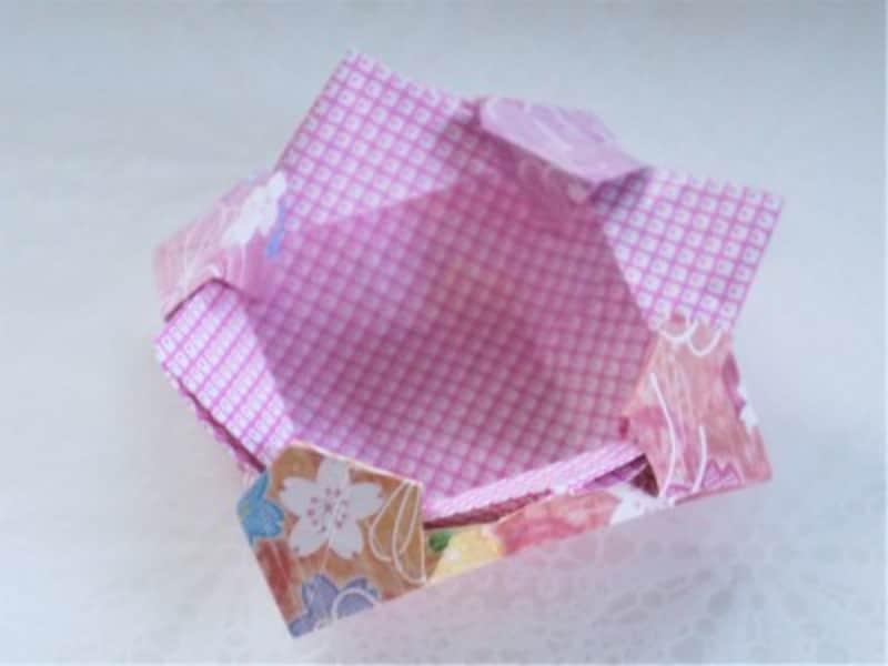 折り紙の箱の折り方・作り方可愛い節分豆入れ