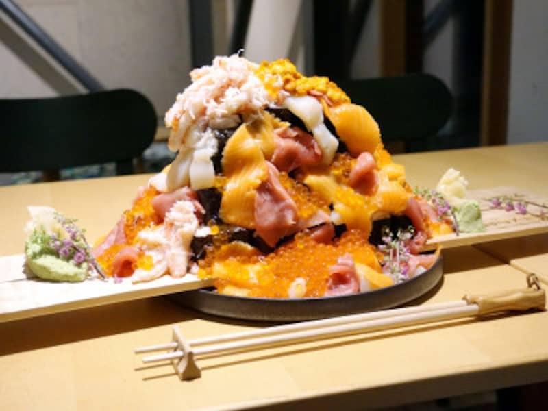 海鮮こぼれフェス「メガこぼれ寿司」